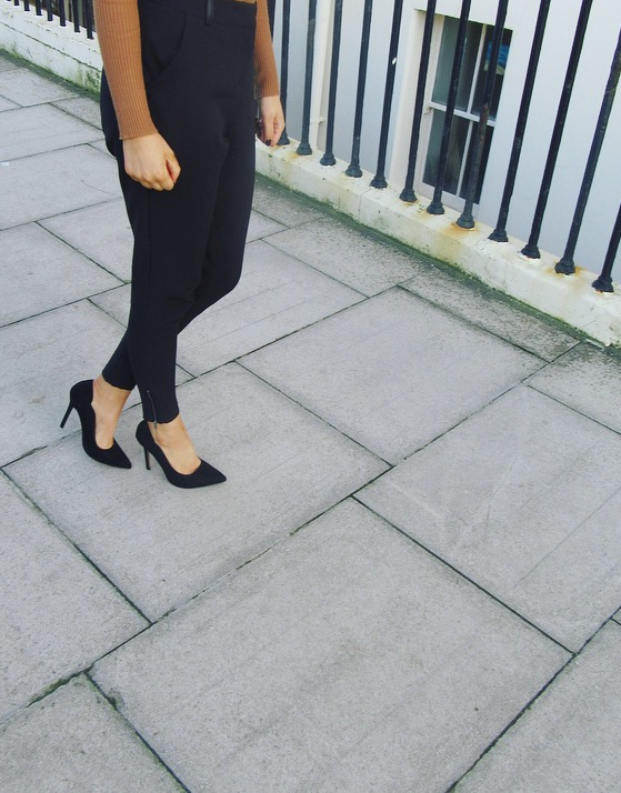 Shoes and trousers